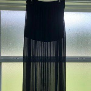 Sheer Black Maxi Skirt / Mini Skirt Lining